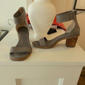 Frye Ankle Strap Heels/Sandals (Gray)